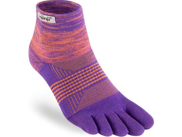 Injinji Trail Midweight Mini Crew Sokken Dames, violet/oranje
